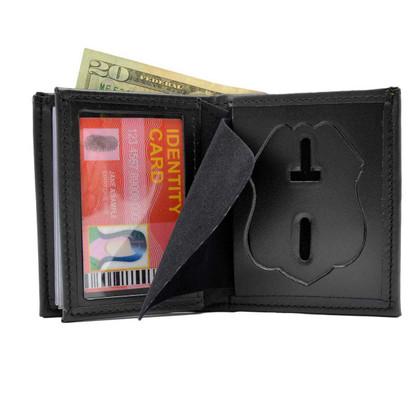 Houston Police Sergeant Leather Hidden Badge Wallet