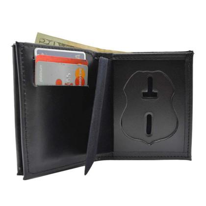 Veterans Affairs Police Badge Wallet with Double ID Holders Federal Style