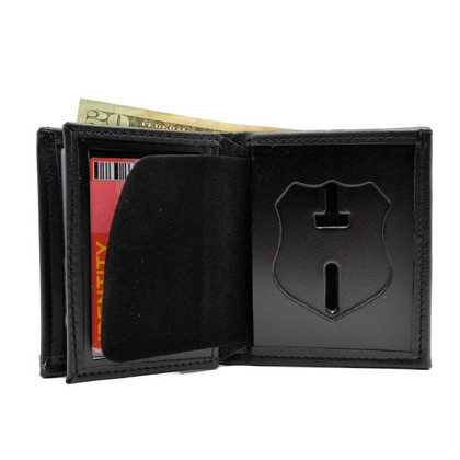 New Jersey Corrections Officer Leather Hidden Badge Wallet Perfect Fit 104