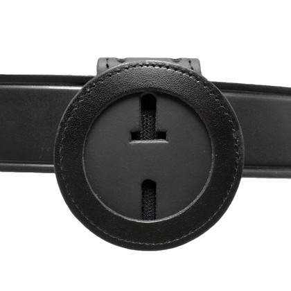 """2"""" Round Cutout Belt Clip Badge Holder with Pocket and Chain"""