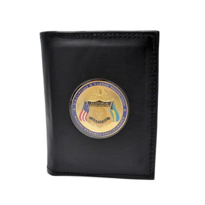Challenge Coin Holder Leather Wallet Double ID