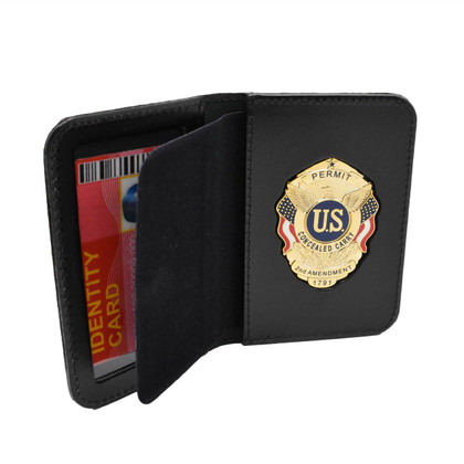 Concealed Carry Permit Badge Case ID Holder
