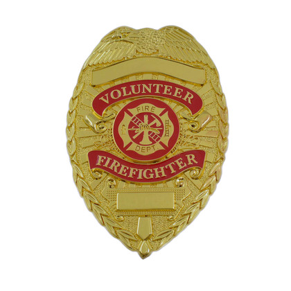 Volunteer Firefighter Gold Badge