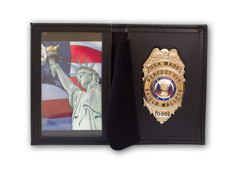 Perfect Fit Dress Leather Badge Case - Single ID