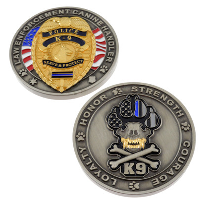 Law Enforcement Canine Handler Challenge Coin