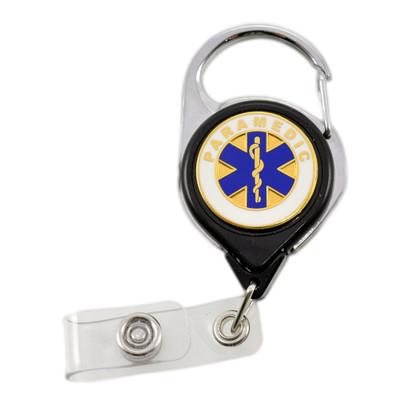 Paramedic Carabiner Retractable Badge Reel