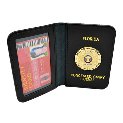 Florida Concealed Carry License Leather Document Holder
