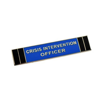 Crisis Intervention Officer Police Uniform Citation Bar Lapel Pin