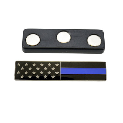 Magnetic Subdued American Flag Blue Line Citation Bar