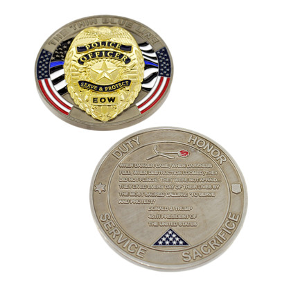 Trump Fallen Officer Memorial Challenge Coin