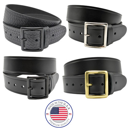"Perfect Fit 1.5"" Premium Leather Garrison Belt"