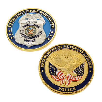 Veterans Affairs Police Officer Challenge Coin