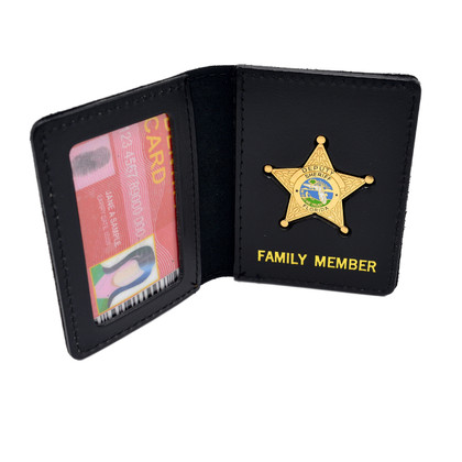 Florida Sheriff Star Badge Family Member ID Wallet