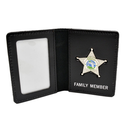 Florida Sheriff Star Badge Family Member ID Wallet