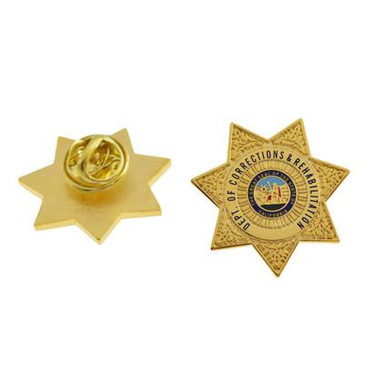 CDCR California Corrections Mini Badge Pin