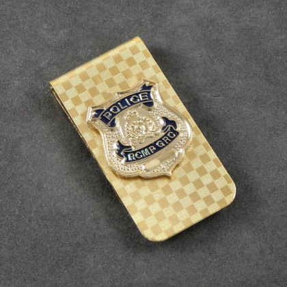 RCMP Mounted Police Mini Badge Money Clip Cash Holder