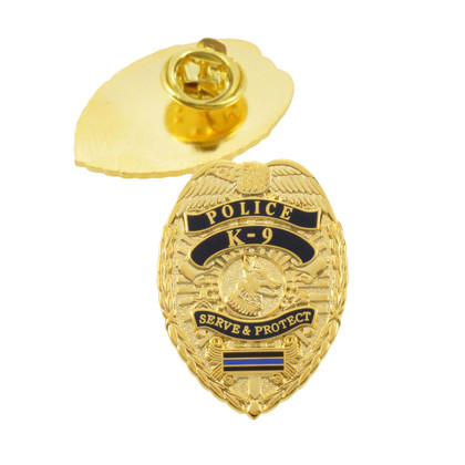 Police K9 Blue Line Mini Badge Lapel Pin