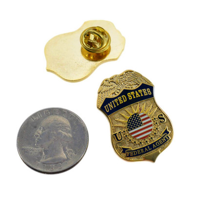 United States Federal Agent Mini Badge Lapel Pin