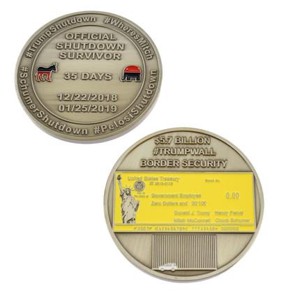 Official Survivor Government Shutdown Furlough Challenge Coin