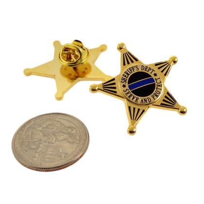 Deputy Sheriff 5 Point Star Mini Badge Lapel Pin