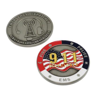 911 Dispatcher Challenge Coin