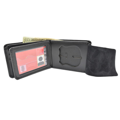 NYPD Officer Premium Leather Badge Wallet with Credit Card Slots