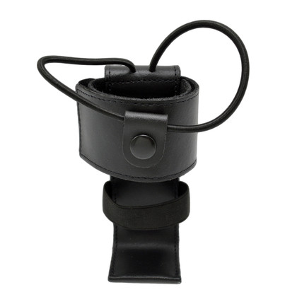 Cobra Tufskin Adjustable Radio Holder Black Leather w Shelf