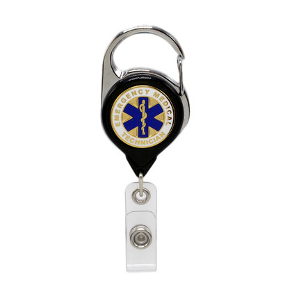 EMT Carabiner Retractable Badge Reel ID Holder