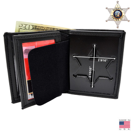 Perfect Fit 6 Point Sheriff Star Badge Wallet - B812 S534