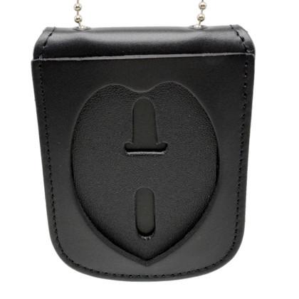 Police Badge Recessed Cut Neck Badge Holder ID Case - Eagle Top B879 SB1901