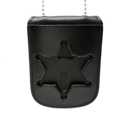 6 Point Star Neck Badge Holder ID Case - S259