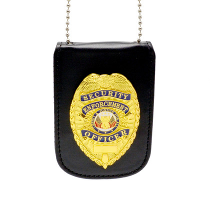 Universal Badge and ID Holder with Security Enforcent Officer Badge