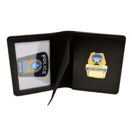 Montreal Police SPVM Duty Leather Book Style Badge Case