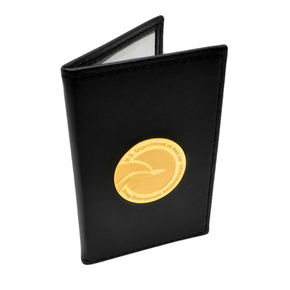 DEA Medallion Double ID Leather Credential Case