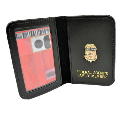 Federal Agent ICE Type Mini Badge Family Member Wallet
