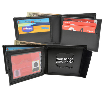 Billfold Wallet w/ Money Pocket, 6 Credit Card Slots, Flipping ID