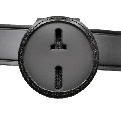 """2.5"""" Round Belt Clip Badge Holder with Pocket and Chain"""