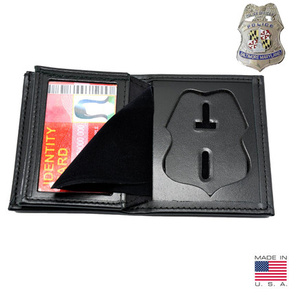 Baltimore Police Officer Hidden Badge Wallet