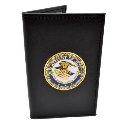 DOJ Medallion Double ID Leather Credential Case