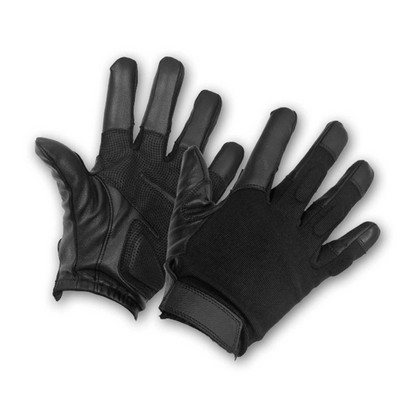 Perfect Fit Police Tactical Search Duty Gloves Public Safety Leather Spandex