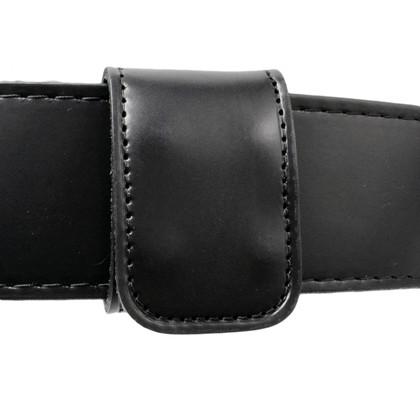 1.75 Inch Double Wide Leather Belt Keeper - Hidden Snap