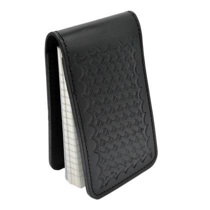 Perfect Fit Police Leather Pad Style 3 x 5 Notebook Case - Basketweave