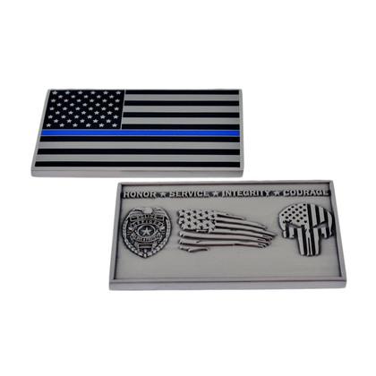 Thin Blue Line Flag Punisher Challenge Coin