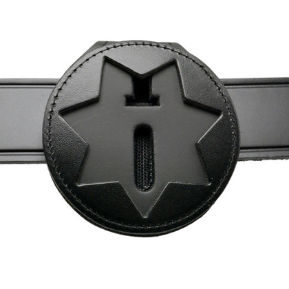 California Illinois Corrections Recessed Belt Clip Badge Holder with Pocket and Chain