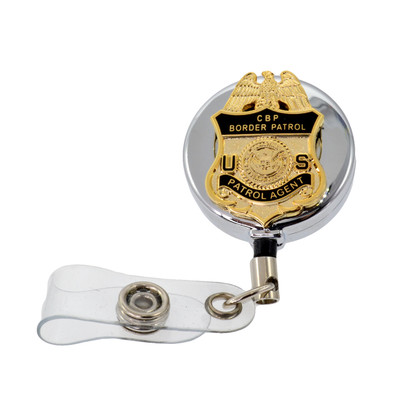 DHS U. S. Border Patrol Agent Retractable Badge Reel ID Holder