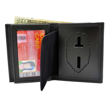 Connecticut Corrections Leather Hidden Badge Wallet Perfect Fit 104
