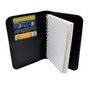 Perfect Fit Leather Book Style 3 x 5 Notebook Holder - Spartan Helmet
