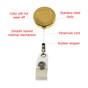 DOJ ATF & E Seal Retractable ID Holder Badge Reel