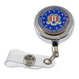 FBI Seal Retractable ID Badge Holder Reel