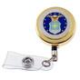 U S Air Force Military Retractable ID Holder Badge Reel